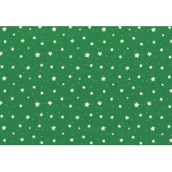 Pannolenci stampato stelle verde/bianco