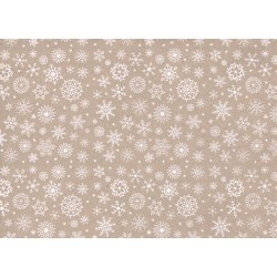 Pannolenci stampato fiocchi d neve beige/bianco