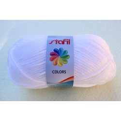 Gomitolo lana sintetica 50gr/133mt  bianco