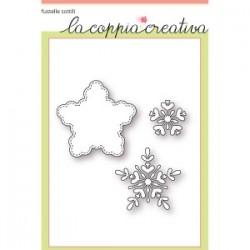 Fustelle la coppia creativa Fiocchi di neve 2