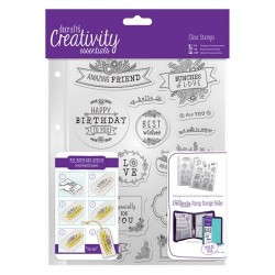 A5 Clear Stamp Set (16pz) - Folk Sentiment