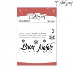 Clear Stamp Modascrap Buon Natale
