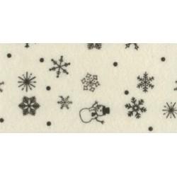 Pannolenci stampato neve panna/marrone