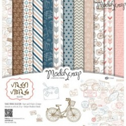 Paper pack Modascrap Viaggi vintage 30,5x30,5cm