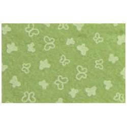 Pannolenci stampato Farfalle verde salvia/bianco