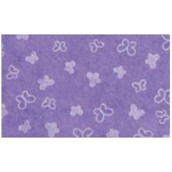 Pannolenci stampato Farfalle glicine/bianco