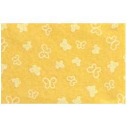 Pannolenci stampato Farfalle giallo/bianco