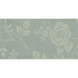 Pannolenci stampato rose grigio argentato/corda