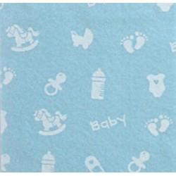 Pannolenci stampato Baby piccolo celeste