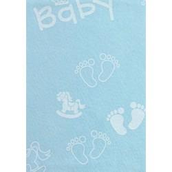 Pannolenci stampato Baby grande celeste