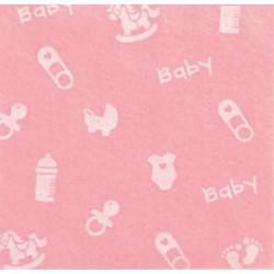 Pannolenci stampato Baby piccolo rosa