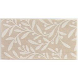 Pannolenci stampato ulivo beige/crema