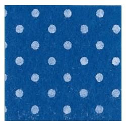 Pannolenci pois blu medio/bianco