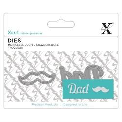 XCUT Mini Sentiment Die (2pz) - Dad