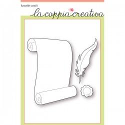 Fustelle la coppia creativa Foglio di pergamena