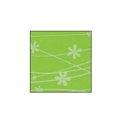 Foglio Gomma Crepla 2mm Verde acqua pastello / fiori bianchi 40x60cm