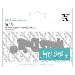 XCUT Mini Sentiment Die (3pz) - Happy Days