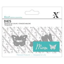 XCUT Mini Sentiment Die (2pz) - Mum