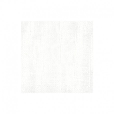 "Florence cardstock texture (simil bazzil) 12x12"" 216gr white"