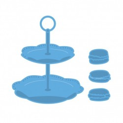 Marianne Design Creatables tiered tray & macarons