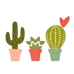 Sizzix Thinlits die set Cacti 6pz.