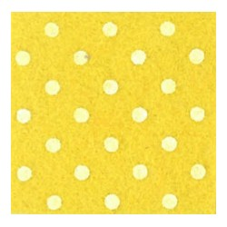 Pannolenci pois grigio giallo/bianco