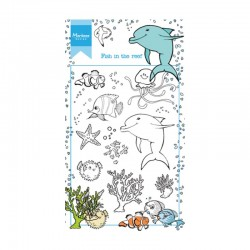 Set di timbri Marianne Design clear stamps Hetty's fish in the reef