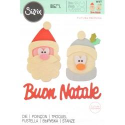 """Sizzix Bigz L Die """"Futura Premana""""- Buon Natale"""