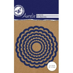 Set Fustelle Aurelie Circle Scalloped Nesting Die (6pz)