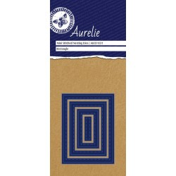 Set Fustelle Aurelie Mini Stiched Rectangle Nesting Die (4pz)