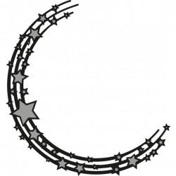 Marianne Design Craftables stars semi circle