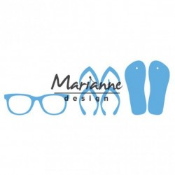 Marianne Design Creatables flip flops & sun glasses