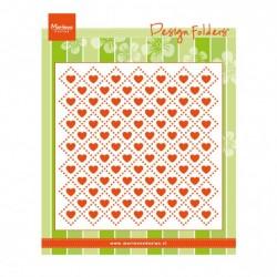 Marianne Design design folder sweet hearts