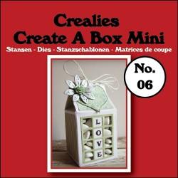 Crealies Create A Box Mini n. 06 Milk carton