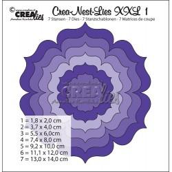Crealies Crea-nest-dies XXL no. 1 die flower round