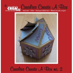 Crealies Create A Box no. 2 six-sided box