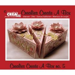 Crealies Create A Box no. 5 piece of cake