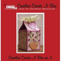 Crealies Create A Box no. 6 milk carton