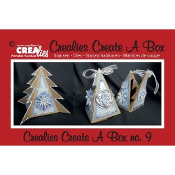 Crealies Create A Box no. 9 Triangle Xmas tree