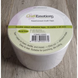 CraftEmotions EasyConnect Craft tape (biadesivo da fustellare) 15m x 65mm
