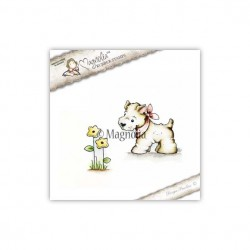 Timbro Magnolia CG-17 Little Westie with Flower