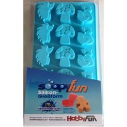 Stampo in silicone per formine Bosco (fungo, riccio, volpe)