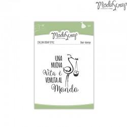 Clear Stamp Modascrap Una nuova vita è venuta al mondo