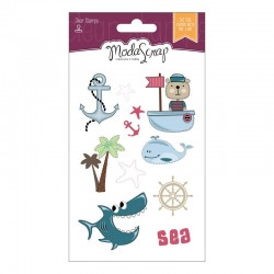 Set Clear Stamps Modascrap SAILOR'S LIFE