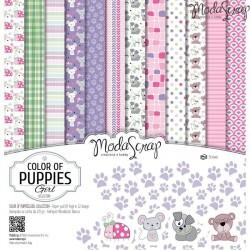 Paper pack Modascrap Color of puppies girl 30,5x30,5cm