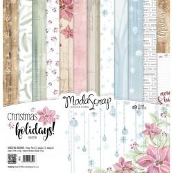 Paper pack Modascrap CHRISTMAS HOLIDAYS 30,5x30,5cm