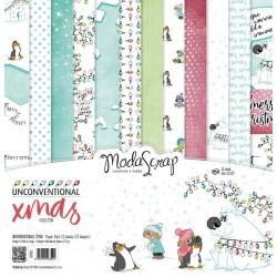 Paper pack Modascrap UNCONVENTIONAL XMAS 30,5x30,5cm