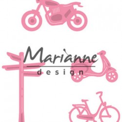 Marianne Design Collectables Village decoration set Bycicle