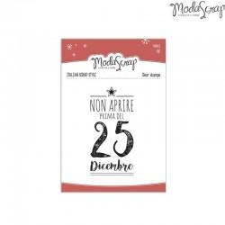 Clear Stamp Modascrap Non aprire prima del 25 dicembre