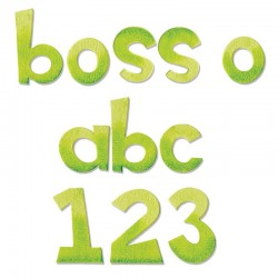 BIGZ XL ALPHABET DIE BOSS-O  Lowercase letters & number